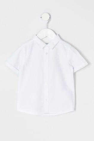 River Island White Twill Shirt
