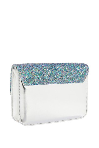 Accessorize Blue Glitter Party Across Body Bag