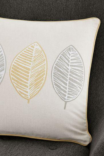 Fusion Yellow Skandi Leaf Cushion