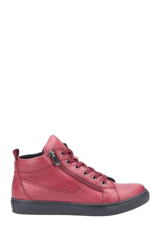 Riva Red Zehra Ankle Boots