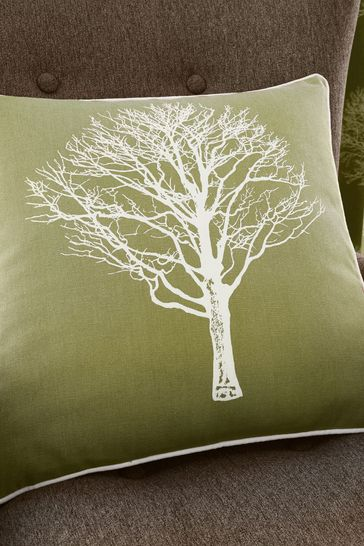 Woodland Trees Cushion by Fusion