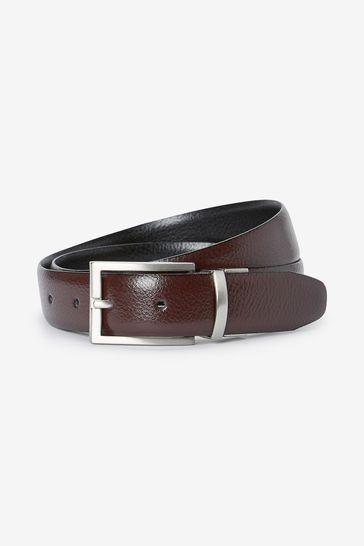 Black/Brown Signature Italian Leather Reversible Belt