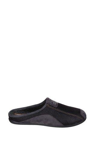 Cotswold Black Westwell Slippers