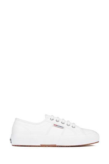 Superga® White Leather 2750 Cotu Classic Trainers