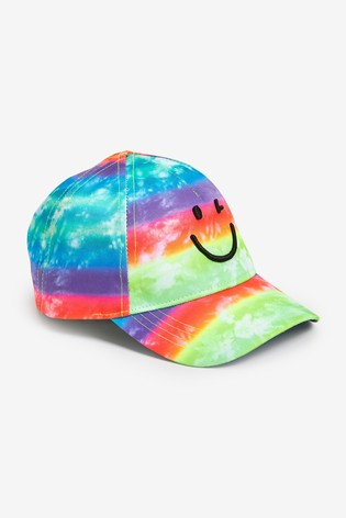 Multi Tie Dye Smile Cap (3mths-10yrs)