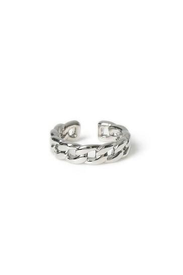 Aela Silver Look Chain Ear Cuff