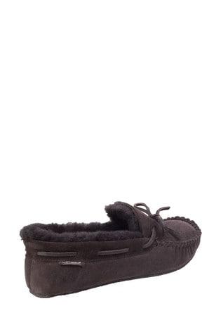 Cotswold Brown Chastleton Sheepskin Moccasin Slippers