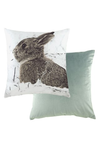 Hare Photographic Cushion by Evans Lichfield