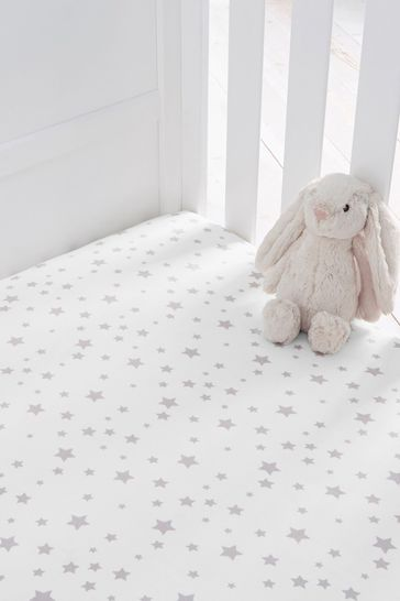 Silentnight Safe Nights Star Cot Bed Fitted Sheet