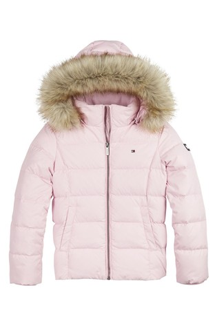 Tommy Hilfiger Pink Essential Basic Down Jacket