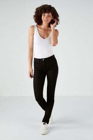 Pure Collection Black Mowbray Slim Leg Jeans