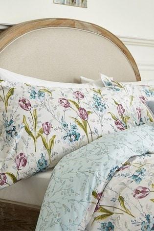 V&A Spring Tulips Duvet Cover and Pillowcase Set