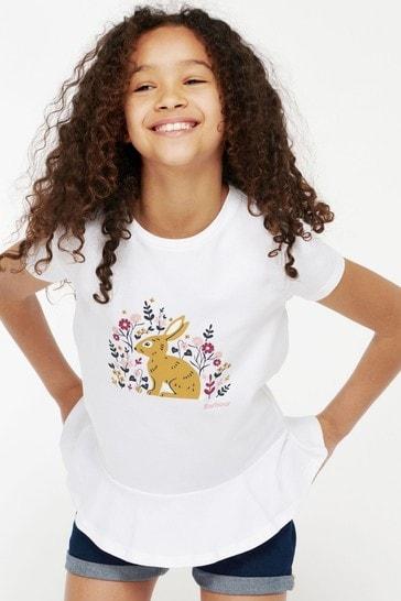 Barbour® Girls White Ava T-Shirt