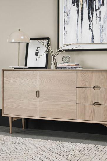 Dansk Scandi Wide Sideboard by Bentley Designs
