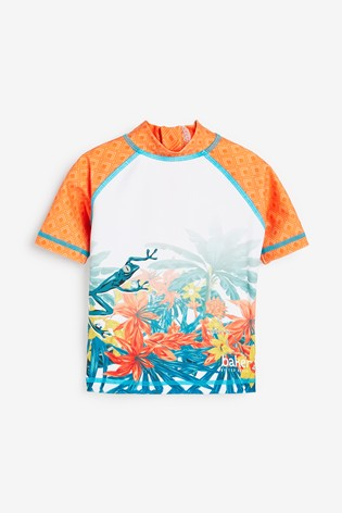 Baker By Ted Baker Boys Photographic Rash Vest And Short Set