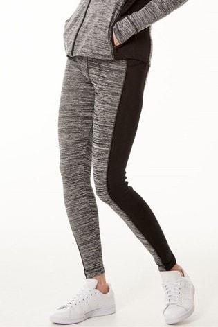 M&Co Grey Athleisure Colourblock Leggings