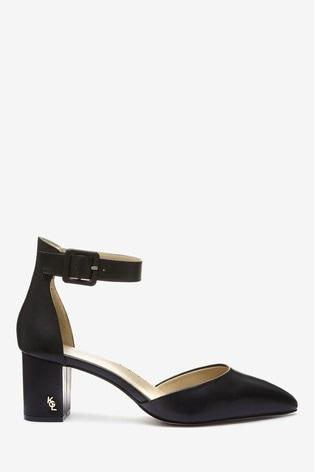 KG Burlington Black Leather Court Shoes