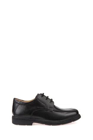 Geox Junior Boys/Unisex Federico Black Shoes