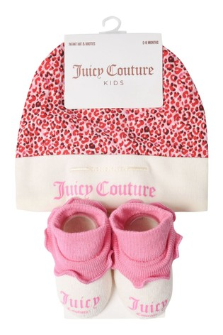 Juicy Couture Leopard Hat And Booties Set