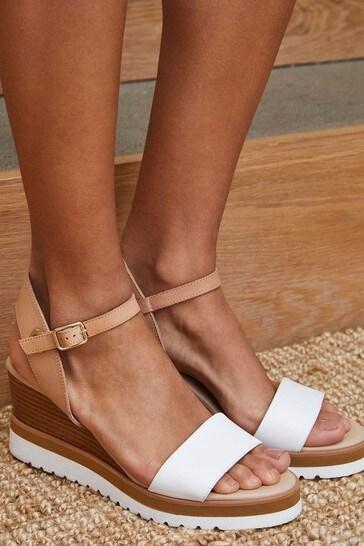 Mint Velvet White Remy Sport Wedge Sandals