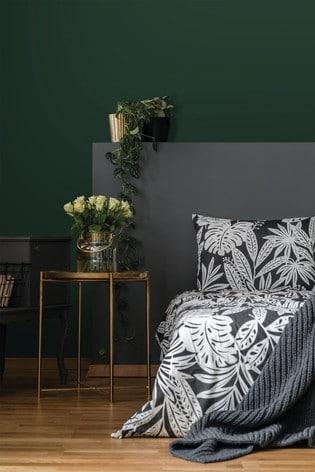 Superfresco Easy Uni Elegant Leaves Dark Green Wallpaper by Art For The Home