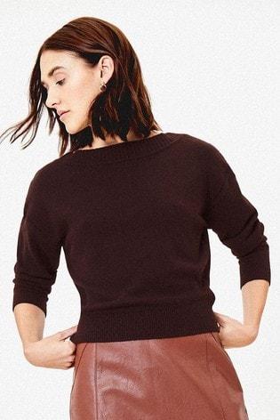 Oasis Brown Christy Knit Jumper