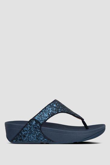 FitFlop™ Blue Lulu Glitter Toe Post Sandals