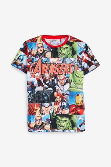 Multi Avengers Print T-Shirt (3-16yrs)