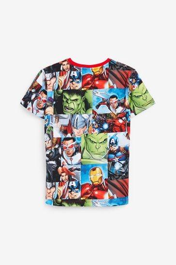 Multi Avengers Print T-Shirt (3-16yrs)