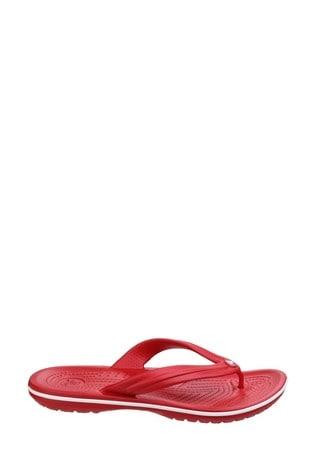 Crocs Red Crocband Flip Flops
