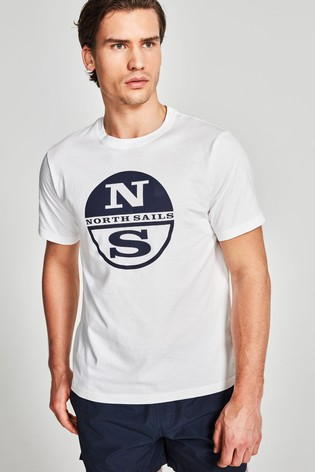 North Sails White Graphic T-Shirt