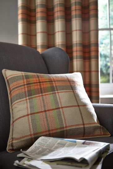 Brushed Heritage Check Cushion by Catherine Lansfield
