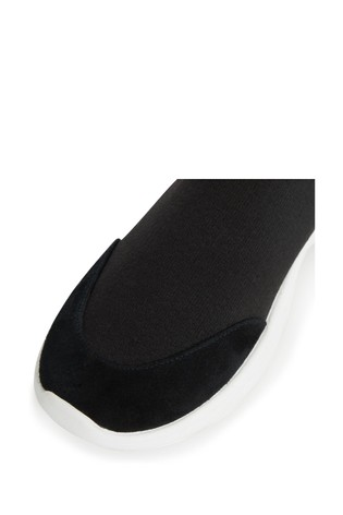 Dune London Black Elianna Comfort Sock Boot Trainers