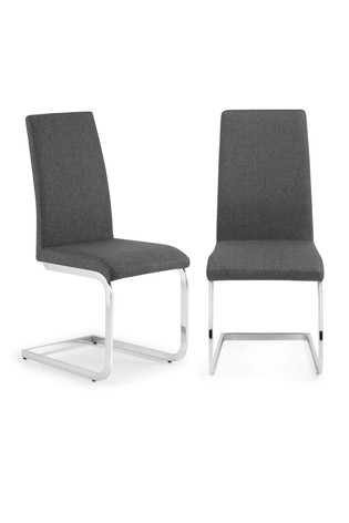 Set of 2 Roma Cantilever Chairs by Julian Bowen