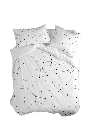 Happy Friday Constellation Duvet Cover and Pillowcase Set