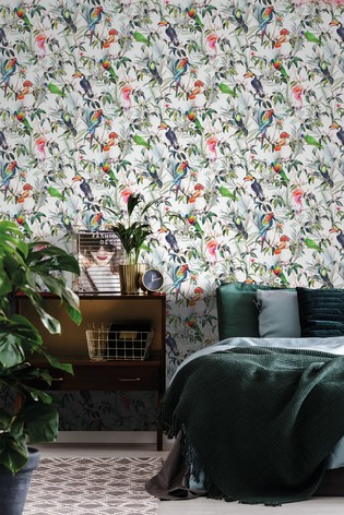 Art For The Home Multi Fresco Amazon Tropical Wallpaper