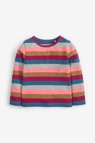 Bright Stripe Long Sleeve Rib T-Shirt (3mths-8yrs)