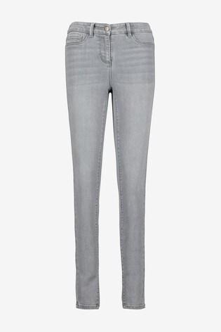 Grey Power Stretch Denim Leggings