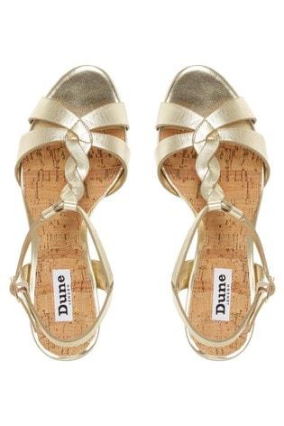 Bar Strap Cork Wedge Heeled Sandals