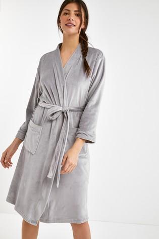 Grey Velour Robe