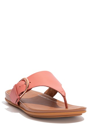 FitFlop Pink Graccie Buckle Toe Post Sandals