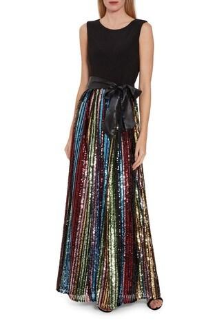 Gina Bacconi Aga Sequin Maxi Dress