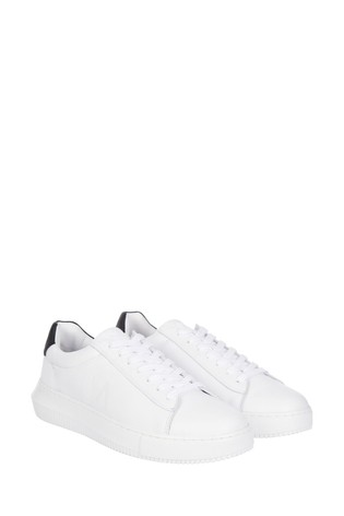 Calvin Klein White Chunky Sole Lace-Up Sneakers