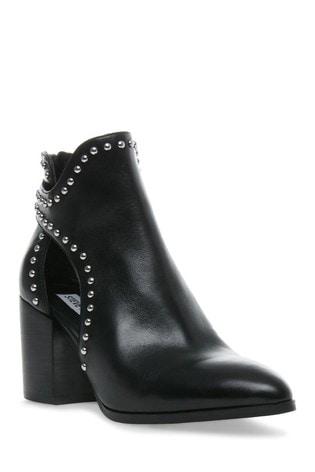 Steve Madden Black Justice Zip Ankle Boots