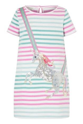 Monsoon Natural Blake Unicorn Sweat Dress