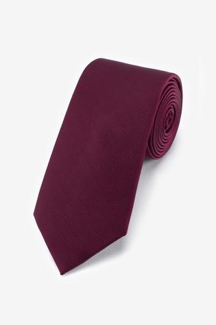 Burgundy Wide Twill Tie