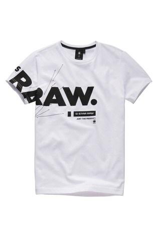 G-Star White Logo T-Shirt