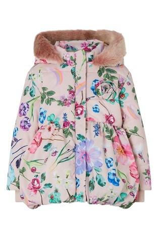 Monsoon Pink Baby Pixie Padded Coat