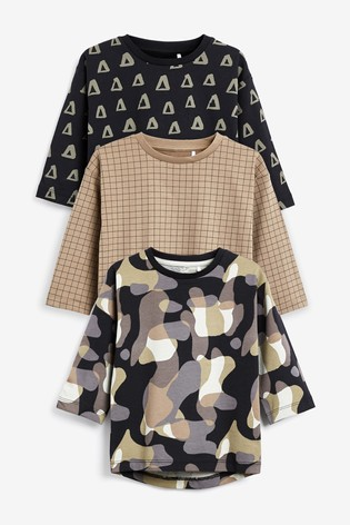Multi 3 Pack All Over Printed T-Shirts (3mths-7yrs)