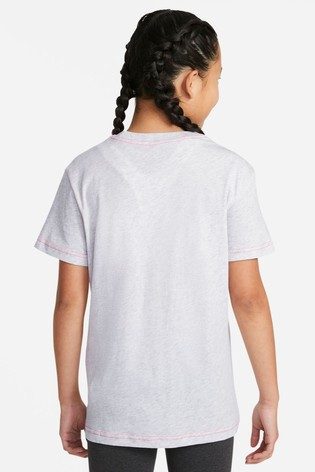 Nike White Essential Boyfriend Fit T-Shirt